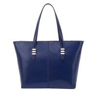 Wholesale Large Envelope Handbags - Wholesale-AUAU New promotion women's genuine leather+PU Leather handbag bags fashion women's cowhide shoulder bag large bag