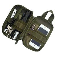 porte-outils militaire achat en gros de-1000D Nylon Tactique Sac En Plein Air Molle Militaire Taille Fanny Pack Mobile Téléphone Case Clé Mini Outils Pouch Sac De Sport