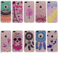 Wholesale Iphone 5c Butterfly - Dreamcatcher Mandala Soft TPU Case For Iphone 7 Plus 6 6S 5S Huawei P8 Lite 2017 P9 P10 Mate9 Honor 5C High Heel Clear Skull Butterfly Cover