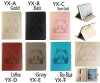 Wholesale Panda Anti Dust - For Ipad Cover Printing Panda folding Flip PU Leather Wallet Stand Case with Card Slot for Ipad 2 3 4 mini 1 2 3 Air 1 2