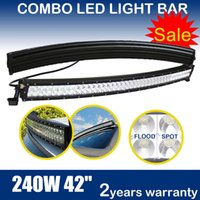 """Wholesale Ford Front Bumpers - 42 Inch 240W Curved LED Light Bar For Boat Off-road Truck Jeep Ford Tractor 4WD SUV Combo Beam Fog Roof Driving Work Lamp Bumper Lights 40"""""""