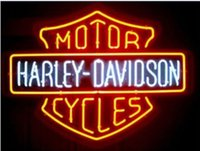 Wholesale NEW HARLEY DAVIDSON MOTORCYCLE REAL GLASS NEON LIGHT BEER BAR SIGN x15