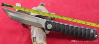 Wholesale Fast Bearings - Free shipping TwoSun D2 Blade Titanium alloy Handle Ball Bearing Fast Open Pocket Folding Knife