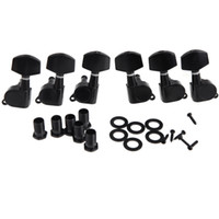 Wholesale Guitar Tuners 3l 3r - Wholesale- 6pcs( 3R+ 3L) Zinc Alloy Materia Black Sealed Tuning Pegs Tuner Machine Head Electric Acoustic Guitar Parts & Accessories