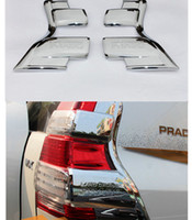 Wholesale Toyota Prado Tail Lights - 2pcs Chrome Rear Tail Light Lamp Cover Trim For Toyota Prado FJ150 2014-2016