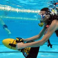 Wholesale Diving Scooter - Free Shipping Waterproof 300W Electric Sea Dual Speed Underwater Propeller Diving Pool Scooter(Without Battery)