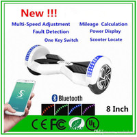 Wholesale Speakers 8inch - Upgrade Phone APP LED Scooters Electric 8inch Two Wheels Self Balancing Wheel Smart Electric Hoverboard Bluetooth Speaker Skateboard Scooter