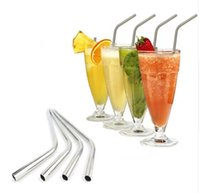 Wholesale Drinking Cups Straws - Stainless Steel Straws Durable Reusable Metal 10.5inch Extra Long Bend Drinking Straws for 20 & 30OZ Yeti, Tervis Tumbler Cups