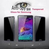Wholesale Iphone Factory Screen Guard - Factory Wholesale Privacy Tempered Glass For iPhone 6S 7 Plus Screen Protector LCD Anti-Spy Film Screen Guard Cover Shield for Samsung S6 S7