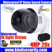 Wholesale Megapixel Waterproof Ip Camera - Megapixel 4 inch Mini Size Network Onvif 4MP cctv camera ip ptz dome speed dome 20X optical zoom ptz ip camera