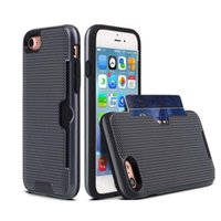 Wholesale Iphone Dream - Dreaming Mesh Card Slot Armor Case For Iphone X 8 7 6 6s Plus Samsung Note 8 LG G6 High Quality TPU PC Colorful Back Cover With OPPBAG