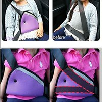 Wholesale nylon baby seat resale online - Child Car Seat Belt Holder Children Regulator Mesh Triangle Safety Restraint Baby Car Safety Seat Belts Adjuster Clip Accessories