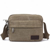 Wholesale Wholesale Messanger Bags - Wholesale- Vintage England style Canvas Men's Crossbody Shoulder Bag Messanger Bags Handbag small Travel Bags LI-259