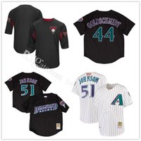 ... Arizona Diamondbacks Randy Johnson 51 Baseball Jerseys Paul Goldschmidt  44 Mitchell Ness Black Fashion Mesh Embroidery ... f8f35185a