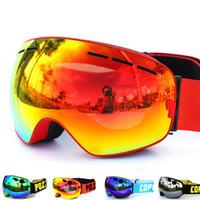 Wholesale Golden Layer - New COPOZZ brand ski goggles double layers UV400 anti-fog big ski mask glasses skiing men women snow snowboard goggles GOG-201