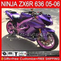 Wholesale kawasaki ninja for sale - 8Gifts Colors kit For KAWASAKI NINJA ZX ZX R CC NO47 Matte purple ZX ZX R ZX636 ZX6R Fairing Bodywork
