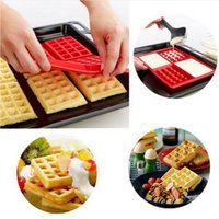 Wholesale Wholesale Bakeware Supplies - Microwave Baking Cookie Mold Cake Muffin Bakeware Cooking Tools Kitchen Accessories Supplies Pan Family Silicone Waffle Mold Maker 170411