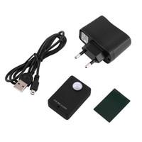 kızılötesi sensör alarm sistemi toptan satış-Mini pir uyarısı sensörü kablosuz kızılötesi gsm alarm monitör motion dedektör algılama ev anti-hırsızlık sistemi beyaz siyah ab tak