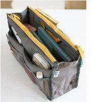 ingrosso borsa da viaggio di trucco-Casa 30 * 18,5 * 8,5 cm Inserto da viaggio Borsa Borsa per trucco Borsa Trucco cosmetico Organizzatore Varie borse Borse per cosmetici Borsa con due cerniere