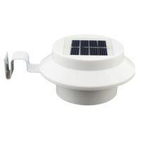 luces solares para pasarelas al por mayor-Al por mayor- xtf2015 6Pack Sun Power Smart LED Solar Gutter Utility Light permanente para casas, cercas de jardín Shed Walkways en cualquier lugar Solor 6