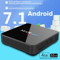 4GB 32GB Android TV Box RK3328 Quad-Core 64 bits Cortex-A53 DDR3 EMMC WiFi 2.4G / 5G Vídeo 3D Codi KD17.3 Android 7.1 TV Box 4K MXR Pro plus