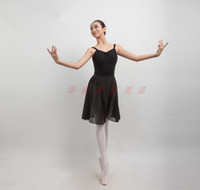 Wholesale Chiffon Long Ballet Skirt - Ballet Dance Skirt Adult Ballet Costumes Wrap Over Scarf-like Design Long Lacing Chiffon Practise Stage Dance Wear