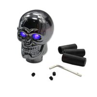 Wholesale Shifter Knobs Wholesale - Car Truck Blue LED Skull Manual Gear Stick Shift Knob Lever Shifter Gearshift