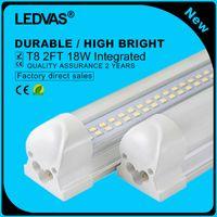 Wholesale Led Strip Light Pack - LEDVAS 2-Pack 18W T8 LED Tube Double Strips Integrated 144led Lights Lamps Bulbs 600mm 0.6m 2Ft AC85-265V 1800LM Led Lighting