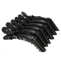 Wholesale Hair Grip Crocodile - Wholesale- 6Pcs pack Matte Section Hair Clip Clamps Hairdressing Salon Grips Crocodile Clips Styling Tools Free Shipping