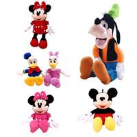 Wholesale Cute Donald Duck Plush - 7 styles 30cm Mickey Mouse Minnie Donald Duck Daisy Plush Toys Cute Goofy Dog Pluto Dog Kawaii Stuffed Toys Children Gift