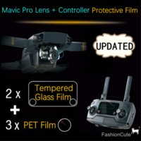 NEOpine organic pet - Upgraded Camera PET Film HD Lens Protective Clear Glass Protective Remote Controller Organic Glass Film for DJI Mavic Pro
