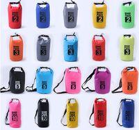 Wholesale Tarpaulin Waterproof Bags - 2L 3L 5L 10L 15L 20L PVC Tarpaulin Dry Bag Swimming Bag Women Man Unisex Waterproof Sports Swim Gym Travel Beach Outdoor Bags