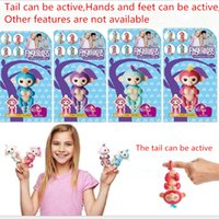 Wholesale Mini Monkeys - Cute smart colorful fingerlings baby monkey hand and feet dynamic finger monkey No more features