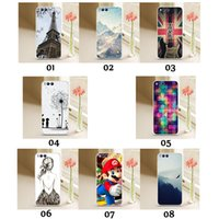 Wholesale Huawei Phone Cartoon Case - For Iphone 7 Plus Samsung Galaxy S8 S8+ G7106 Huawei Mate 9 Pro P9 Soft TPU Cartoon Painting Phone Case Silicone Protective Shell
