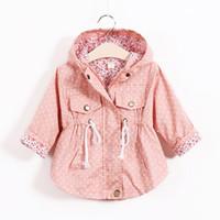 Wholesale School Jackets Wholesale - Grils Outwear Hooded Coats Spring Autumn Causal Baby Kids Jackets School Windproof Sunscreen Children Windbreaker 2-8T