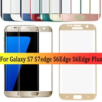 Wholesale Galaxy Phones Sale - bluk sale full cover S6 edge s6edge plus s7 s7 edge 3d curved tempered glass phone screen protector glass film for samsung galaxy