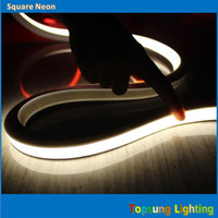 luzes de cabo de led venda por atacado-50 M carretel quadrado LED neon-Flex Rope Iluminação tira 16x16mm fio de néon superfície plana multi-cor 220 V 230 V 230 V