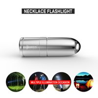 Wholesale Waterproof Led Necklace - Rechargeable necklace Flashlight CREE XP-G2 LED Wuben G340 Mini torches lamp 1x10180 Battery with Micro USB charging port Waterproof