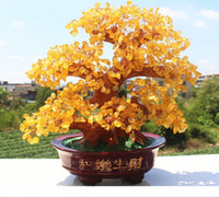 Wholesale Feng Shui Year - Creative furniture furnishing articles natural crystal lucky tree and home decoration
