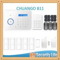 Wholesale Dual Network Alarms - Hot selling B11 Chuango Dual network PSTN and GSM burglar Security Alarm System CGP420kit