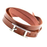 Wholesale Jewerly Stainless Steel For Man - Wholesale-2016 Hot Sell Fashion Jewelry Famous Brand Jewerly 3 Color Geniune Leather Bracelet Bangle for Man Woman