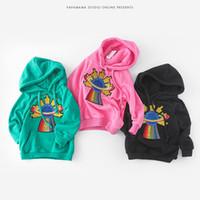 Wholesale Green Coat Baby - 2017 new coming Girls Jacket Coat Fleece Girls Hoodies Spring Autumn Kids Sweatshirt Warm Girls Tops Clothes Baby Clothes