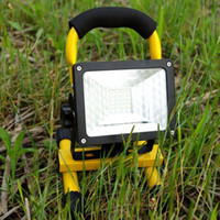 Wholesale Rechargeable Led Flood Lights - Wholesale-Sale Waterproof IP65 30W 24 LED Flood Light Portable Outdoor Emergency Lamp Work Light
