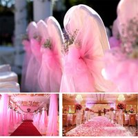 Wholesale Gold Organza Table Runners - 25Yards 6inch Tulle Roll Spool Tutu Organza Gauze Element Table Runner Mariage Pom Wedding Birthday Decoration Gift Bow