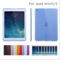 Wholesale Ipad Soft Silicone Back - Crystal Clear Transparent TPU Silicone soft Case cover for iPad 2 3 4 air air 2 pro shockproof back shell
