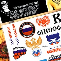 Grossiste-I Love Russie Fans de football fan de tatouage temporaire Body Art Autocollant Tattoo, 17 * 10cm Tatto Henna tatouage Tatouage Wall Sticker