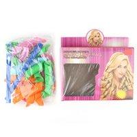 Wholesale Sell Hair Home - Hot Selling!!! DIY MAGIC LEVERAG Magic Hair Curler Roller Magic Circle Hair Styling Rollers Curlers Leverag perm 18pcs set Free Shipping