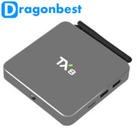 Wholesale Dvb Android Receiver - New TX8 Android 6.0 Amlogic S912 Octa core Set top box 2G 32G Android TV Box HDMI H.265 WIFI Media Player Smart tv box