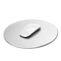 Wholesale Aluminium Mouse Pad for MAC PC Silver Fine and Smooth Hand Slim Design Easy To Carry Mousepad Gaming Mouse Pads DHL Free
