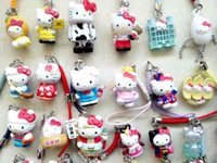 Wholesale Cell Phone Accessories Straps - Wholesale 30PCS lovely Hellokitty Cell Mobile Phone &bag charms straps